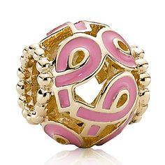 #Pandora #Pink Ribbon #Charm 14K