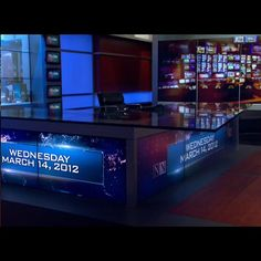 The set of NBC Nightly News