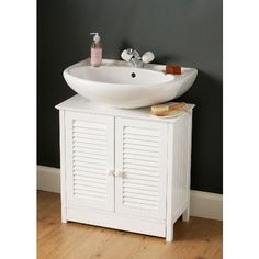 White Under Sink Bathroom Cabinet Pedestal