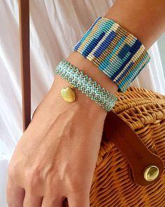 blue patchwork macrame cuff, seashell bracelet, zigzag bracelet, blue and golden macrame bracelets Source by marastelli Macrame Jewelry, Boho Jewelry, Handmade Jewelry, Embroidery Bracelets, Macrame Bracelets, Macrame Knots, Macramé Art, Bracelet Knots, Shell Bracelet