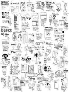 kate bingaman-burt obsessive consumption. Tekening van wat je op een dag in je handen hebt met merken.