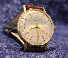 Mens watch russian watch Poljot GOLD PLATED от mensVintageWatches