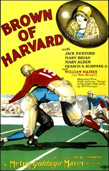 John Wayne Movie / Brown of Harvard 1926 / Role - Yale Football Player / John Wayne was an unbilled football player in game sequences of this sports drama, with William Haines, Mary Brian, and Jack Pickford.