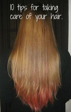 10 Hair Care Tips | http://www.yourhealthyyear.com