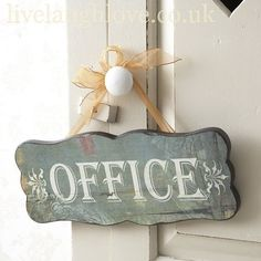 Vintage Style Wooden Office Sign                                                                                                                                                     More