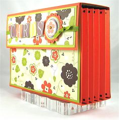Papaya Accordian Side View - Stampin' Up!