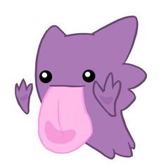 Haunter uses lick . . . in a very cute manner.