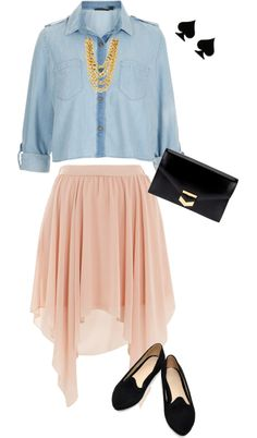 """""""Denim Spring Outfit"""" by stylelover10 on Polyvore"""