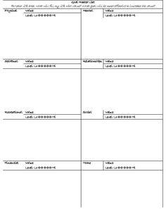 Goal Master List