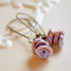 NEW Keishi Pearl Earrings Lavender Freshwater Stack by LivEveryDay, $25.00 https://www.etsy.com/ca/listing/188080385/new-keishi-pearl-earrings-lavender?ref=shop_home_active_1