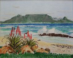 Table Mountain. Pastel on paper. Original 250X200.  Artist: Michael Page