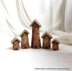 5 Rustic Houses of tiny fairies by vavaleff.deviantart.com on @deviantART