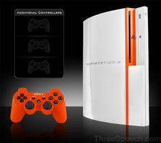 Custom paint jobs for your PlayStation Play Station 3, Orange Sorbet, Hook Em Horns, Anime Devil, Ps3 Games, Education Architecture, Custom Paint Jobs, Art Education, Tattoo Quotes