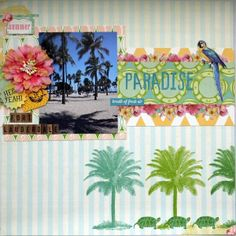 Paradise - Scrapbook.com Websters Pages - The Palm Beach Collection