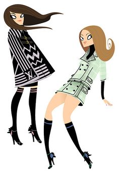 louis vuitton | Illustrator: Steffi Schuetze - http://www.nusillu.com/ Be Inspirational ❥|Mz. Manerz: Being well dressed is a beautiful form of confidence, happiness & politeness