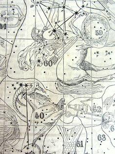Tableau antique étoiles magnifique imprimer par LyraNebulaPrints