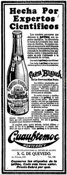 1924 - Anuncio de Carta Blanca - Anuncio publicado en el Informador Guadalajara, Jalisco México