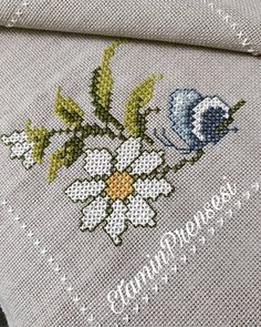 This Pin was discovered by Gül Tiny Cross Stitch, Cross Stitch Flowers, Modern Cross Stitch, Cross Stitching, Cross Stitch Embroidery, Embroidery Patterns, Hand Embroidery, Funny Cross Stitch Patterns, Cross Stitch Designs
