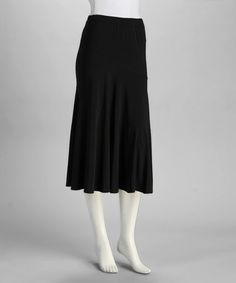 Take a look at this Black Circle Skirt by Carol Rose on #zulily today!