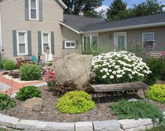 Mix stone sizes to create interest in your outdoor space.