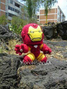 Amigurumi sackboy iron man crochet handmade