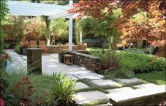 contemporary landscape by Huettl Landscape Architecture I like the planting between the pavers and all the rest