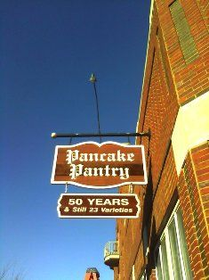 Pancake Pantry in Nashville - on my  list too.... once spotted here was taylor  swift  and justin beiber  together..  i love justin beiber...lol     can you imagine  sharing syrup  with the biebs?  id piss myself.....lol      crap  did i just say that.....