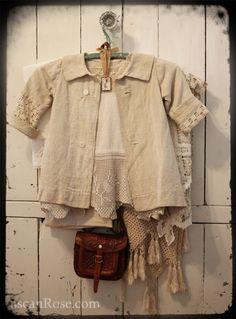Inspiration ::  Filet trim on a linen blouse (no specific pattern)  #crochet #filet #trim