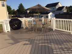 Gorilla deck vinyl decking - Gorilla deck is the future of decking. Great Railing provides Quality Decking & Fencing plus a whole lot more. Pvc Decking, Decking Material, Forest Resources, Vinyl Deck, Deck Railings, Fence, Recycling, Patio, Play