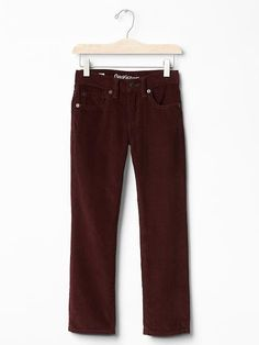 Boy Straight Cords Brick Brown Wine Adjustable Cotton 1969 GAP 5 6 7 10 12 $34.9 #GapKids #ClassicStraightLeg #Everyday