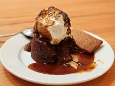 S'More Molten Chocolate Cake from Hot Cakes Molten Chocolate Cakery