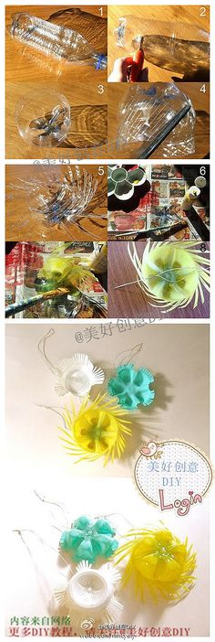 DIY Plastic Bottle Ornaments