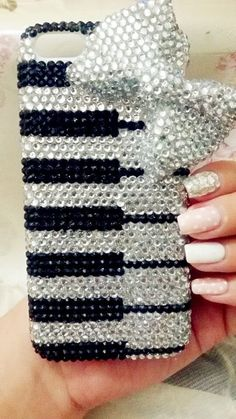 Handmade Bling Rhinestone iphone 6, 6 plus, Samsung note 4 case cover bow piano in Cell Phones & Accessories, Cell Phone Accessories, Cases, Covers & Skins | eBay
