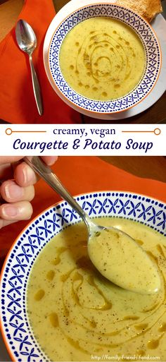 This wonderfully warming, fragrant courgette (zucchini) & potato soup is perfect for a cold day! Enjoy with hot buttered toast for a lovely lunch or supper.