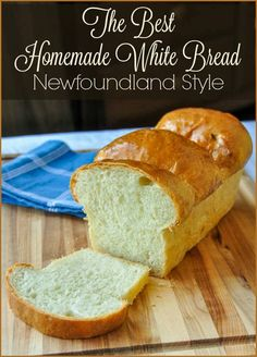 The Best Homemade White Bread. Nothing says home baked comfort food goodness like a perfectly baked crusty loaf of homemade bread, fresh from the oven. This recipe is well over 40 years old and turns put perfectly every time. Scones, Homemade White Bread, White Bread Recipes, Crusty White Bread Recipe, White Bread Machine Recipes, Homemade Rolls, Homemade Paint, Homemade Breads, Newfoundland Recipes