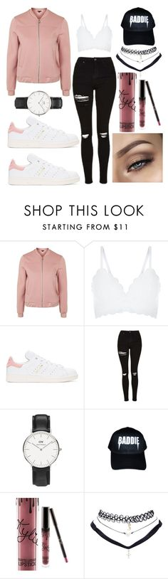 """."" by muahdani ❤ liked on Polyvore featuring Topshop, New Look, adidas Originals, Daniel Wellington, Kylie Cosmetics and Wet Seal"