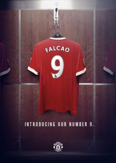Radamel Falcao will wear the number 9 shirt at Man United. #MUFC