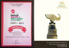 Abhilash K Ramesh (Exe. Director of Kairali - The Ayurvedic Healing Village) bagged Entrepreneurial Excellence Award for Ayush Leadership from India Salon & Wellness Award Ayurvedic Healing, Excellence Award, Leadership, Salons, Wellness, India, Lounges, Goa India, Indie