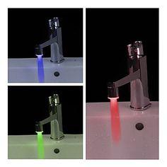 Toh Querendo: Torneira LED de Banheiro