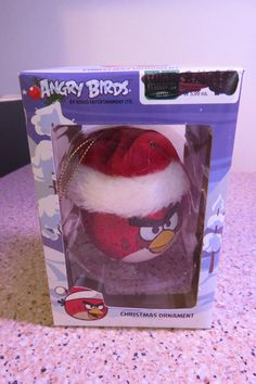 2012 ANGRY BIRDS Red Bird CHRISTMAS ORNAMENT NEW in box by Commonwealth Toys
