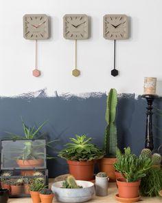 #Zuiver Tik Tak #Uhr #clock bei www.flinders.de   #copper #messing #kupfer #design #beton