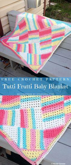 Crochet → Baby Blanket | Written | US Terms Level: easy beginner A true idea of summer blanket works fluently and looks effective.