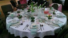 party tablescapes | Vintage tea party tablescape