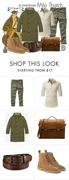 """""""Milo Thatch"""" by leslieakay ❤ liked on Polyvore featuring Abercrombie & Fitch, Yves Saint Laurent, Dr. Martens, Uniqlo, Bottega Veneta, Ray-Ban, men's fashion, menswear, disney and disneybound"""