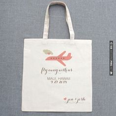 $10 fly away with us wedding tote | CHECK OUT MORE IDEAS AT WEDDINGPINS.NET | #weddings #weddinggear #weddingshopping #shopping