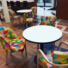 colorful chairs in modo