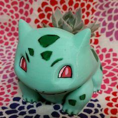 3D Printed Bulbasaur Planter  SOURCE  bulbasaur pokemon pokémon video game video games pokemon go pokemon z nintendo game freak gaming 3d printed 3d 3d printer cool awesome cute kawaii #anime #cosplay #costume #otaku #gamer #videogames