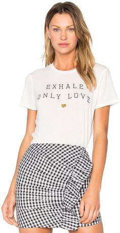Spiritual Gangster Exhale Only Love Tee by Spiritual Gangster  Spiritual Gangster Exhale Only Love Tee by Spiritual Gangster  Available Colors: Stardust  Available Sizes: XS S M L  DetailsSpiritual Gangster creates yoga inspired clothing for high vibration living. Not only do they design activewear with functionality in mind but their motto is? do something good while you wear this. To help promote that lifestyle the brand donates proceeds toward a meal for someone in need from every item of…
