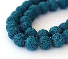 Lava Beads Teal 10mm Round 15 inch Strand eGR-LV26-10