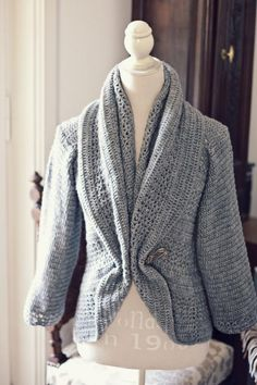 Looking for your next project? You're going to love Ladies' Shrug Cardigan by designer MonPetitViolon.